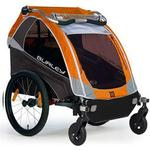 Burley D-Lite Orange Trailer with 2-Wheel Stroller Kit