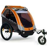Burley D-Lite Orange Trailer with Stroller Kit