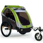 Burley D-Lite Green Trailer with Stroller Kit
