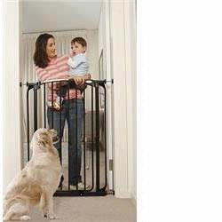 Dream Baby L782B Extra Tall Security Gate with 2 Free extensions, Black