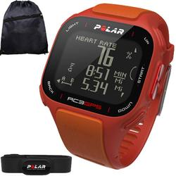 Polar 90047386KT RC3 GPS Heart Rate Monitor Watch with Cinch Bag- Orange