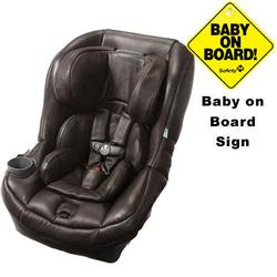 Maxi-Cosi Pria 70 Car Seat w/Baby on Board Sign Leather Edition Brown