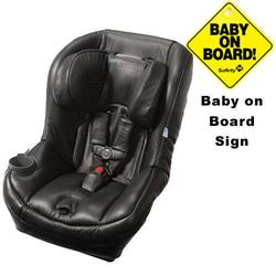 Maxi-Cosi CC099BYW- Pria 70 Car Seat w/Baby on Board Sign  Leather Edition Black