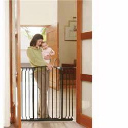 DreamBaby L792B Extra Tall Hallway Security Gate Combo, Black