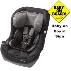 Maxi-Cosi CC099APU - Pria 70 Car Seat w/Baby on Board Sign  (Total Black)