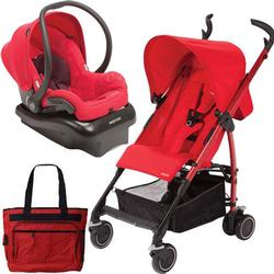 Maxi-Cosi Kaia Travel System with Diaper Bag -  Intense Red