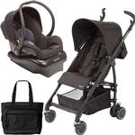 Maxi-Cosi Kaia Travel System with Diaper Bag - Total Black