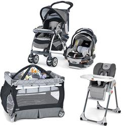 Chicco Graphica Kit Stroller System, High Chair and Play Yard Combo
