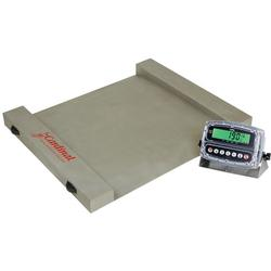 Detecto RW-1000S Run-a-Weigh Stainless Steel Portable Floor Scales,1,000 lb x 0.5 lb