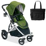 Britax U281852BAG B-Ready Stroller - Moss with a Diaper Bag