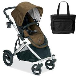 Britax U281851BAG B-Ready Stroller - Copper with a Diaper Bag
