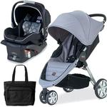 Britax U341828 - B-Agile Travel Systems - Black Granite with Diaper Bag