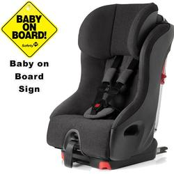 Clek foonf convertible seat w/Baby on Board Sign - shadow