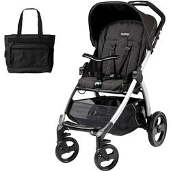 Peg Perego Book Stroller -  Pratico Silver Chassis with bag