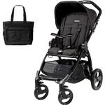 Peg Perego Book Stroller -  Pratico Black Chassis with Bag