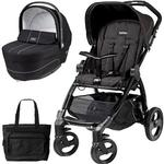 Peg Perego Book Stroller and Navetta XL Bassinet -  Pratico Black Chassis with bag