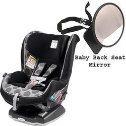 Peg Perego Primo Viaggio Convertible Car Seat w/Back Seat Mirror -Pois Grey