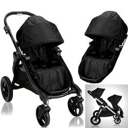 Baby Jogger 20310KIT2 City Select Stroller with Second Seat - Onyx with Black Frame