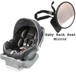 Summer Infant Prodigy® Infant Car Seat w/Back Seat Mirror - Blaze