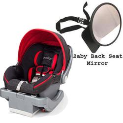 Summer Infant Prodigy® Infant Car Seat  w/Back Seat Mirror- Jetset