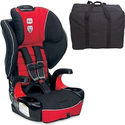 Britax E9LH34L Frontier 90 Combination Harness-2-Booster Seat - Congo with a car seat Travel Bag