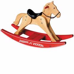 Radio Flyer 317 Classic Wooden Rocking Horse