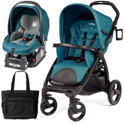 Peg Perego Book Stroller Travel System with a Diaper Bag - Oceano