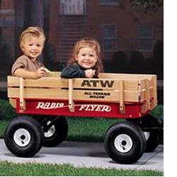 Radio Flyer 32 All Terrain Steel & Wood Wagon