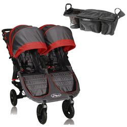 Baby Jogger 16236KT1 City Mini GT Double With Parent Console - Shadow/Crimson