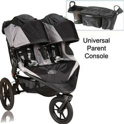 Baby Jogger Summit X3 Double Jogging Stroller with Parent Console - Black Gray
