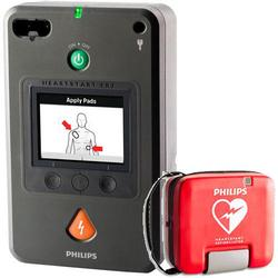 Phillips 861388 HeartStart FR3 Defibrillator (Text Bundle) w Case