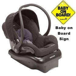 Maxi-Cosi IC166BYC Mico Nxt Infant Car Seat w/Baby on Board Sign - Ironic Black