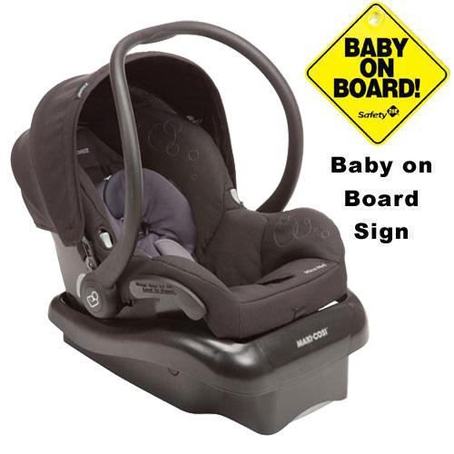 Maxi-Cosi IC166BYC Mico Nxt Infant Car Seat w Baby on Board Sign - Ironic Black