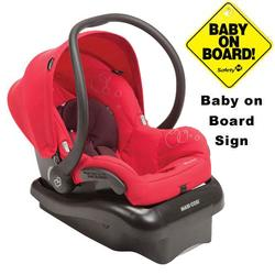 Maxi-Cosi IC166INT Mico Nxt Infant Car Seat w/Baby on Board Sign  - Intense Red