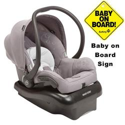 Maxi-Cosi IC166SLG Mico Nxt Infant Car Seat w/Baby on Board Sign - Steel Grey