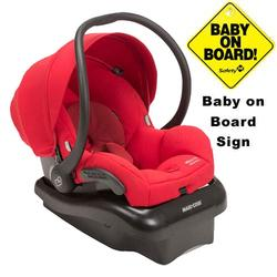Maxi-Cosi IC152BIY Mico AP Infant Car Seat w/ Baby on Board Sign - Envious Red