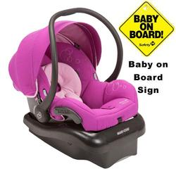 Maxi-Cosi IC152CEC Mico AP Infant Car Seat w/ Baby on Board Sign - Posh Purple
