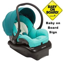 Maxi-Cosi IC152CEE Mico AP Infant Car Seat w/ Baby on Board Sign - Treasured Green