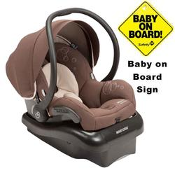Maxi-Cosi IC152MKC Mico AP Infant Car Seat  w/ Baby on Board Sign  - Milk Chocolate