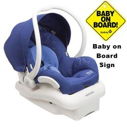 Maxi-Cosi IC154BIV Mico AP Infant Car Seat w/ Baby on Board Sign - Reliant Blue