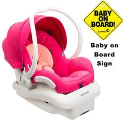 Maxi-Cosi IC154BIW Mico AP Infant Car Seat w/ Baby on Board Sign  - Passionate Pink