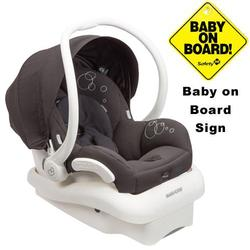 Maxi-Cosi IC154BIZ Mico AP Infant Car Seat w/ Baby on Board Sign - Devoted Black