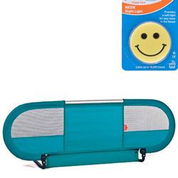 Babyhome 052103.166 Side Bedrail - Turquoise  with Night Light