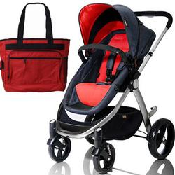 Mountain Buggy Cosmopolitan Stroller - Chili with a  Diaper Bag