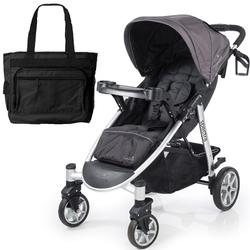 Summer Infant 21440KT Spectra Stroller - Blaze Black with Diaper Bag