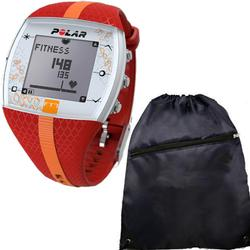 Polar FT7F 90048733 Heart Rate Monitor with Cinch Bag-  - Red/Orange