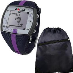 Polar FT7F 90048735 Heart Rate Monitor with Cinch Bag- Blue Lilac