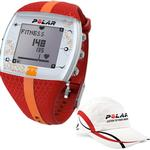 Polar FT7F 90048733 Heart Rate Monitor with Polar Race Hat-  - Red/Orange