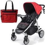Summer Infant 21430 Spectra Stroller with Diaper Bag - Jet Set Red