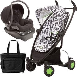 Quinny CV262KBWTRV, Zapp Xtra Travel system with diaper bag and car seat - Kenson Black